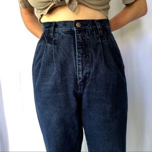 VINTAGE high waisted pleated front jeans